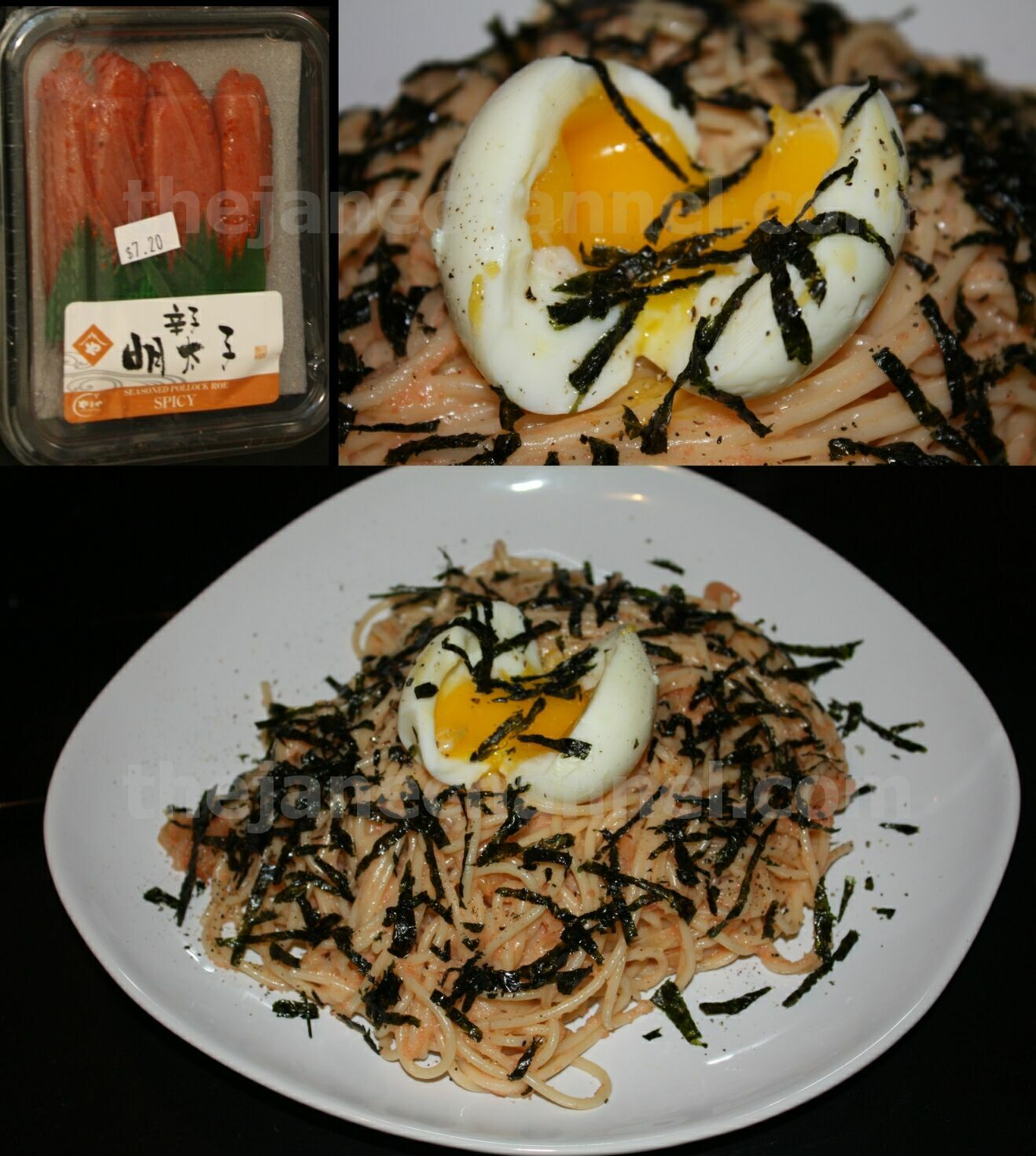 Spicy Mentaiko (Spicy Cod Roe) Spaghetti with onsen egg ...