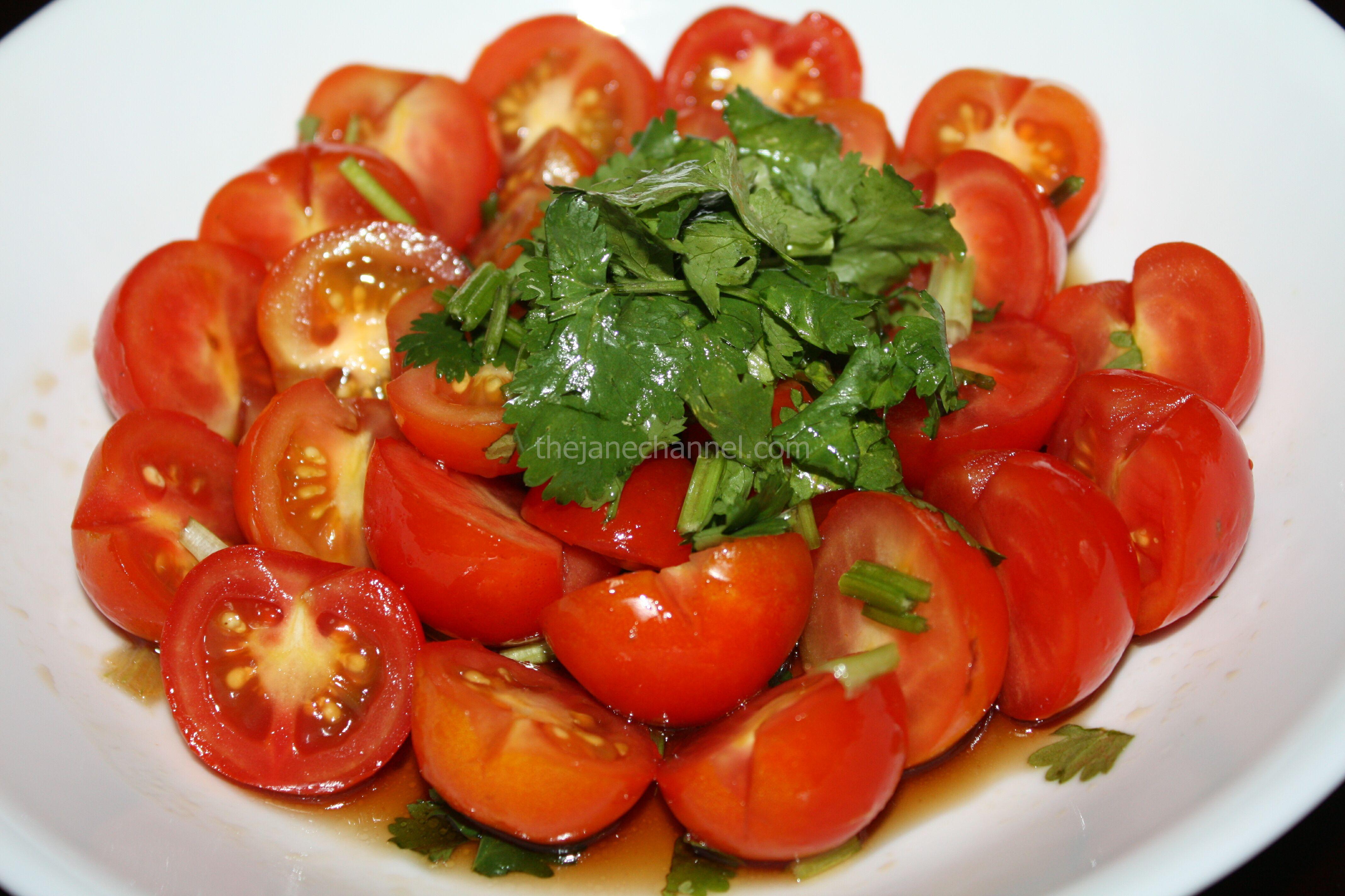 Thai Cherry Tomato Salad | thejanechannel