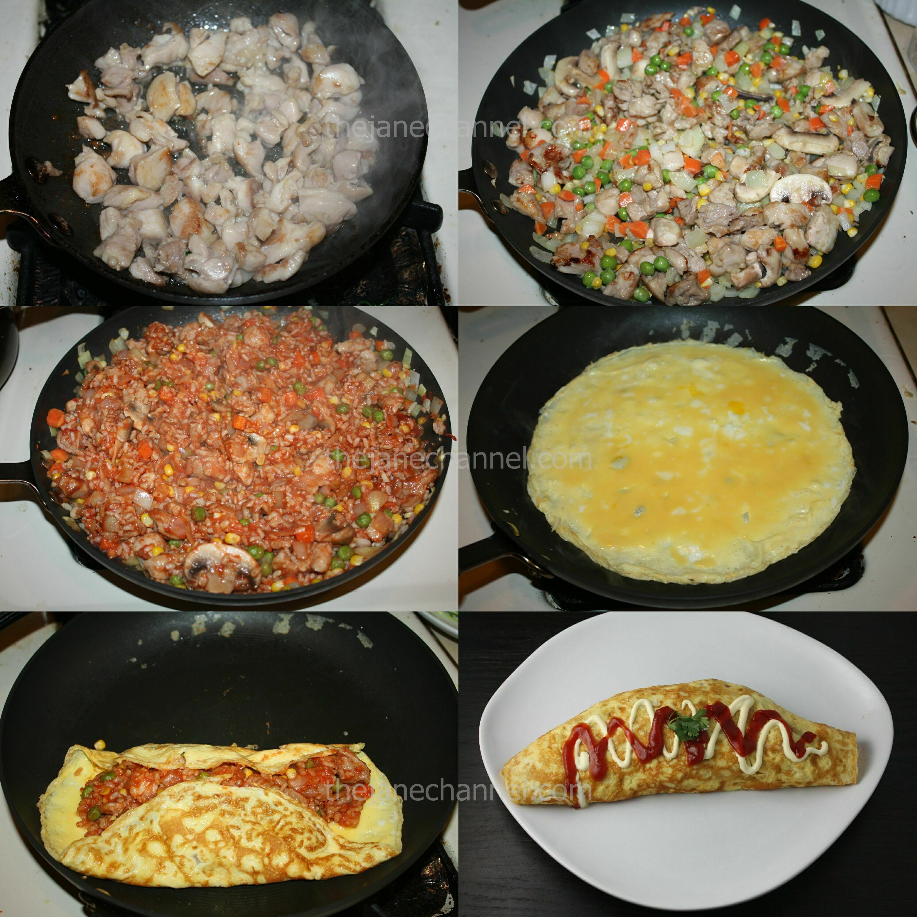 of each omurice 2 eggs for each omurice 1 teaspoon dairy creme or milk ...