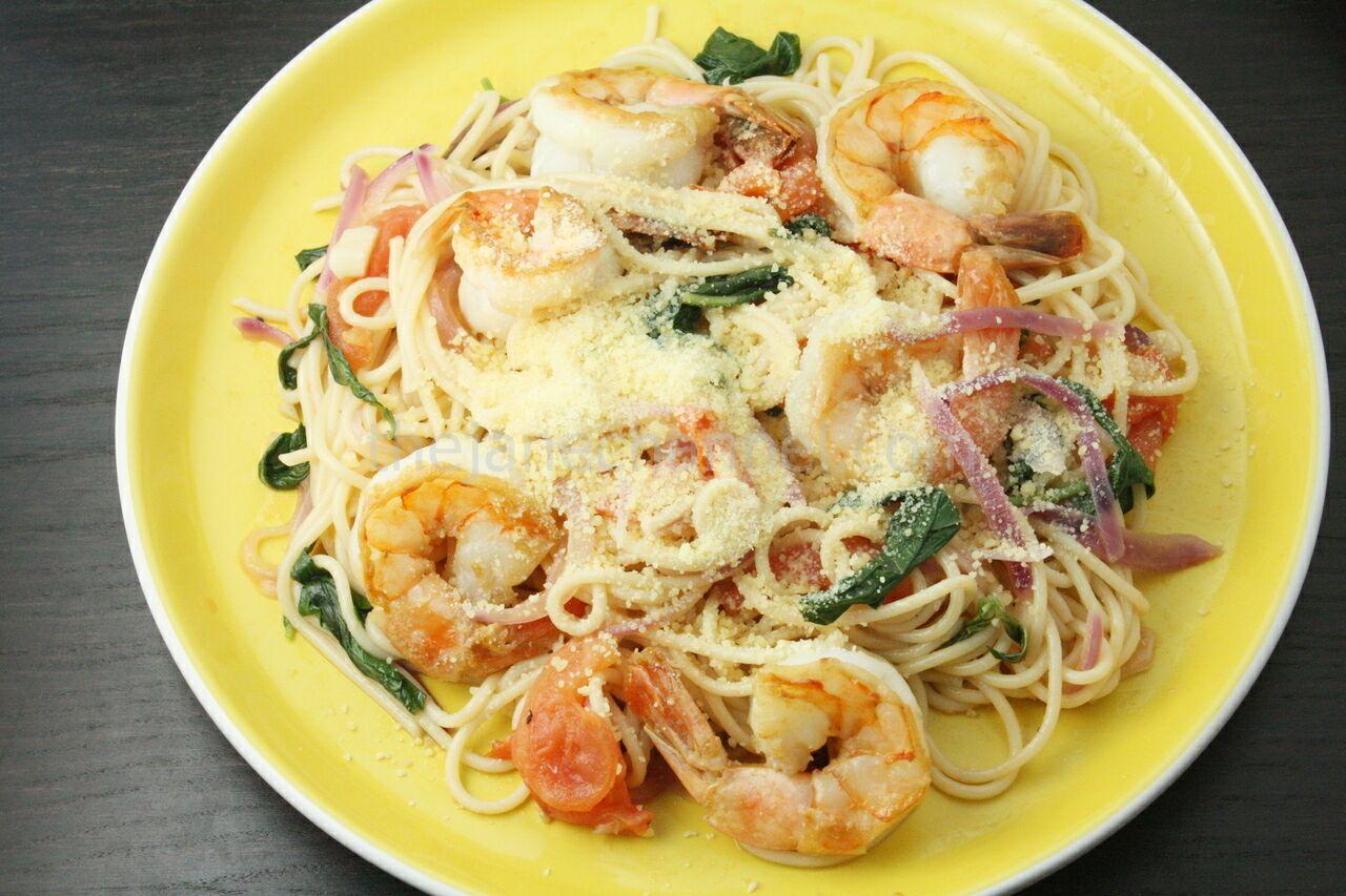 Lemon Basil Shrimp Pasta | thejanechannel